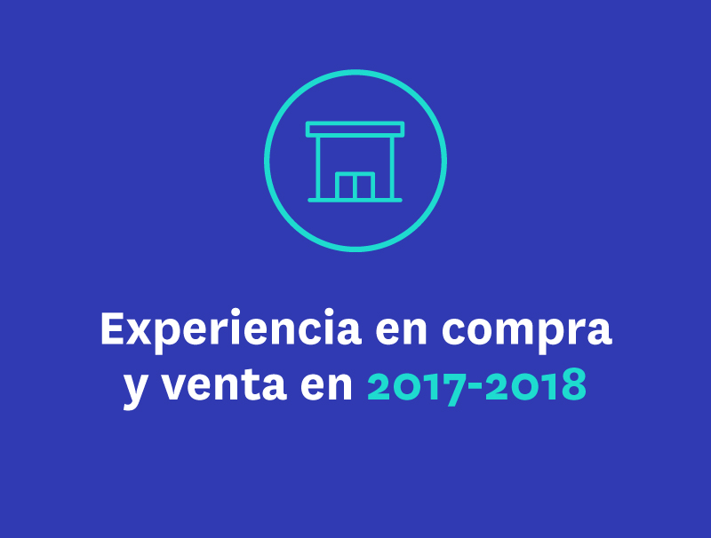 Experiencia en compra y venta en 2017-2018